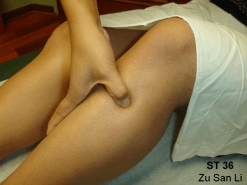 Massage de Zu san Li